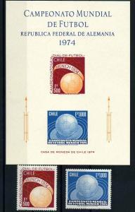 CHILE Lot aus 1974 postfrisch (104539)
