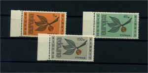 ZYPERN 1965 Nr 258-260 postfrisch (104689)