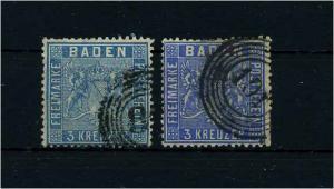 BADEN 1860 Nr 10a+b gestempelt (104806)