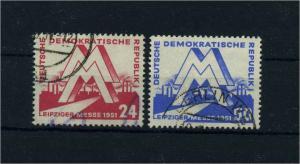 DDR 1951 Nr 282-283 gestempelt (104874)