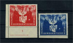 DDR 1951 Nr 284-285 postfrisch (104882)
