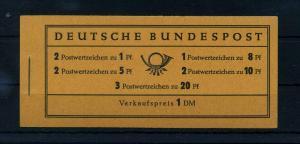 BUND 1958 MH 4YII postfrisch (105237)