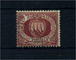 SAN MARINO 1892 Nr 15 gestempelt (106498)