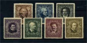 OESTERREICH 1922 Nr 418-424 Haftstelle/Falz (106550)