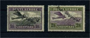 ALBANIEN 1927 Nr 148-149 Haftstelle/Falz (106565)