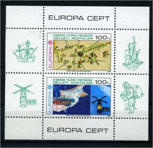 TUERK.ZYPERN 1983 Bl.4 postfrisch (108001)