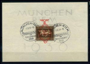 DEUTSCHES REICH 1937 Bl.10 gestempelt (108268)