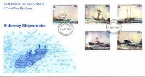 ALDERNEY 1987 Nr 32-36 gestempelt (700264)