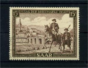 SAARLAND 1951 Nr 305 postfrisch (108392)