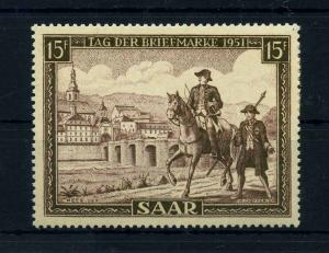 SAARLAND 1951 Nr 305 postfrisch (108393)