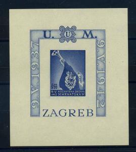 KROATIEN 1942 Bl.4B postfrisch (108621)