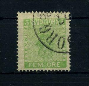 SCHWEDEN 1858 Nr 7 gestempelt (108672)