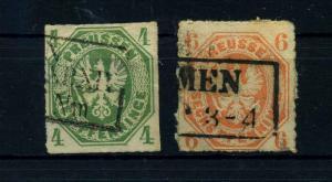PREUSSEN 1861 Nr 14+15 gestempelt (108729)