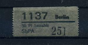 DDR 1968 SbPAE Nummernzettel 1 postfrisch (109043)