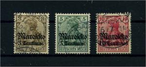 DP MAROKKO 1911 Nr 46-48 gestempelt (109373)