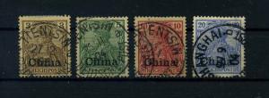 DP CHINA 1901 Nr 15-18 gestempelt (109382)