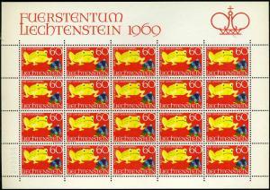 LIECHTENSTEIN 1969 Nr 520 postfrisch (700744)