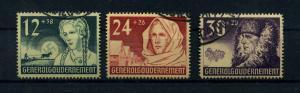 GENERALGOUVERNEMENT 1940 Nr 56-58 gestempelt (109576)