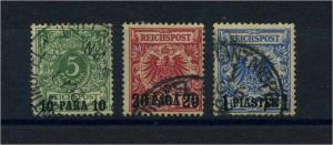 DP TUERKEI 1889 Nr 6-8 gestempelt (109790)