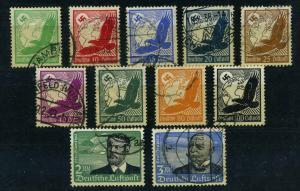 DEUTSCHES REICH 1933 Nr 529-539 gestempelt (110023)