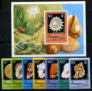 DOMINICA 1976 Nr 517-523 postfrisch (110226)