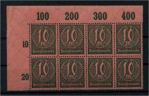 DEUTSCHES REICH 1922 Nr D71 postfrisch (110998)