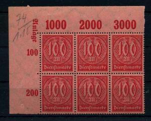 DEUTSCHES REICH 1922 Nr D74 postfrisch (111005)