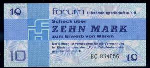 DDR 10 Mark Forumsscheck siehe Beschreibung (111302)
