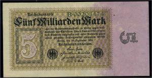 DEUTSCHES REICH 5 Milliarden Banknote siehe Beschreibung (111307)