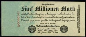 DEUTSCHES REICH 5 Millionen Banknote siehe Beschreibung (111308)