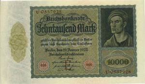 DEUTSCHES REICH 10 Tsd. Mark Banknote siehe Beschreibung (111320)
