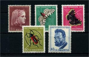 SCHWEIZ 1953 Nr 588-592 postfrisch (111339)