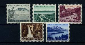 SCHWEIZ 1954 Nr 597-601 postfrisch (111340)