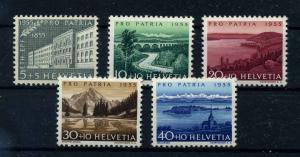 SCHWEIZ 1955 Nr 613-617 postfrisch (111342)