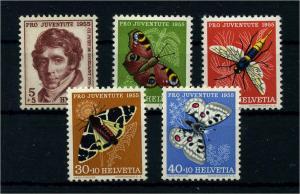 SCHWEIZ 1955 Nr 618-622 postfrisch (111343)