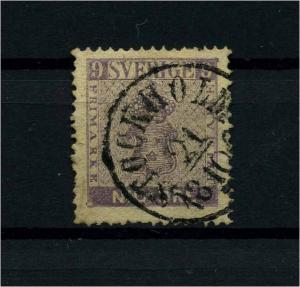 SCHWEDEN 1858 Nr 8b gestempelt (112030)