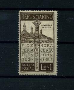 SAN MARINO 1923 Nr 99 Haftstelle/Falz (112073)