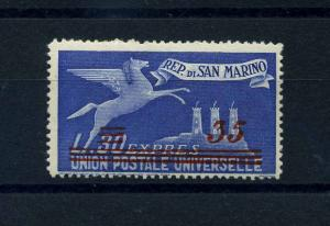 SAN MARINO 1947 Nr 406 Haftstelle/Falz (112098)