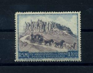 SAN MARINO 1949 Nr 438 Haftstelle/Falz (112102)