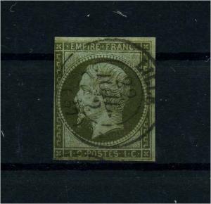 FRANKREICH 1853 Nr 10 gestempelt (112184)