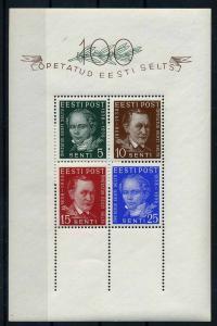 ESTLAND 1938 Bl.2 postfrisch (112219)