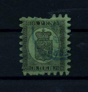 FINNLAND 1856 Nr 6B gestempelt (112238)