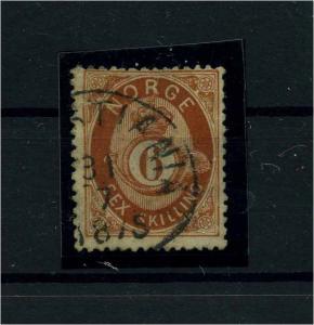NORWEGEN 1872 Nr 20 gestempelt (112258)