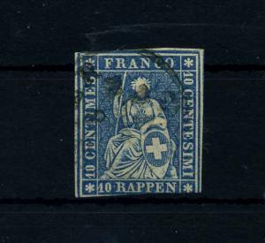 SCHWEIZ 1854 Nr 14 gestempelt (112296)