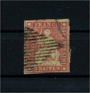 SCHWEIZ 1854 Nr 15 gestempelt (112299)