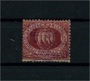 SAN MARINO 1892 Nr 15 gestempelt (112360)
