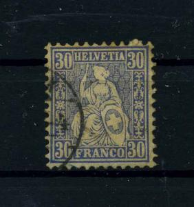 SCHWEIZ 1867 Nr 33 gestempelt (112401)
