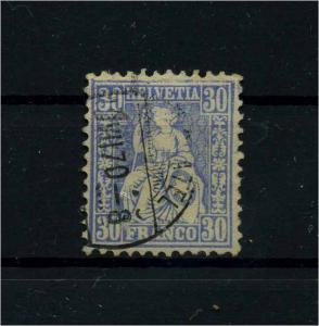 SCHWEIZ 1867 Nr 33 gestempelt (112404)
