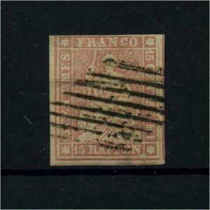 SCHWEIZ 1854 Nr 15 gestempelt (112481)