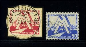 DDR 1951 Nr 282-283 gestempelt (112674)